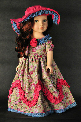"""Doll Clothes fits 18"""" American Girl party collection dress Retro Vintage 2pc"""