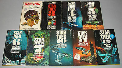 STAR TREK BOOKS - by JAMES BLISH - LOT OF 9 - MOST ARE 1ST PRINTINGS