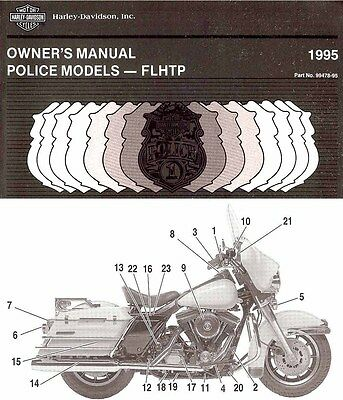 1995 HARLEY-DAVIDSON FLHTP POLICE MOTORCYCLE OWNERS MANUAL -NEW SEALED