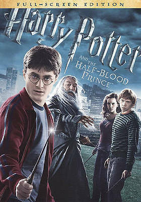 HARRY POTTER and the HALF-BLOOD PRINCE Movie on DVD a FULL SCREEN of JK ROWLING!