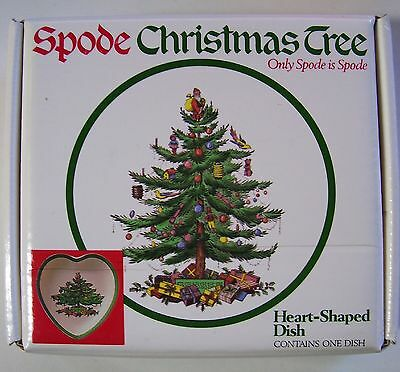 Spode Christmas Tree Heart-Shaped Dish New In Box