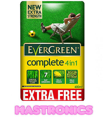 EverGreen 400sqm Complete 4-in-1 Lawn Care Lawn Food Weed and Moss Killer Bag