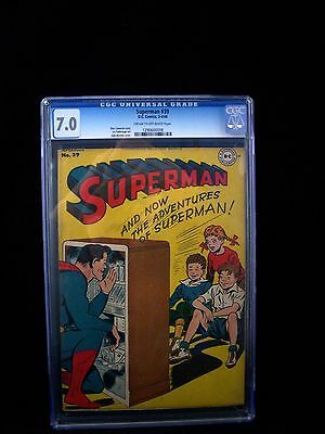 1946 D.C. Comics SUPERMAN #39 Golden Age Classic Radio Cover CGC 7.0