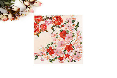 1 Pack 20 PCS Chinese Style Flowers Series Party Paper Napkin 33X33CM Pattern 12