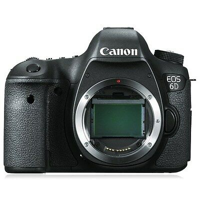 Canon EOS 6D Digital SLR Camera (6 D DSLR Body Only). NEW, with 1yr Warranty