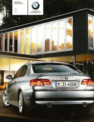 2008 08 BMW 3 Series Coupe Original Sales Brochure Mint