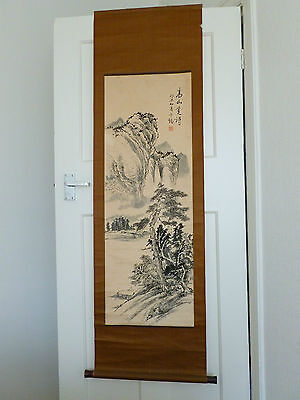 Vintage Chinese 20th Century Scroll Painting from Estate Collection LANDSCAPE