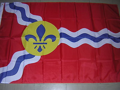 Flag of  the City of St  Louis Missouri USA US Red Ensign 3X5ft France French GB