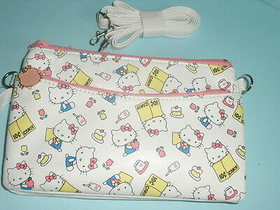 Hello Kitty Artificial Leather Clutch Long Wallet  purse Shoulder Bag