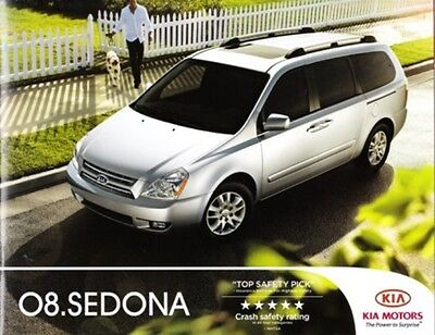 2008  08  KIA  Sedona original sales  brochure MINT