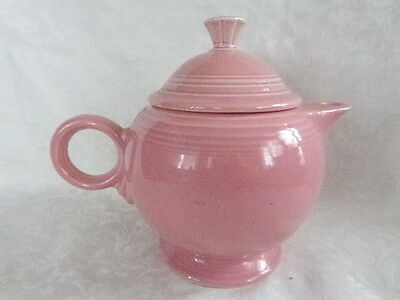 VINTAGE FIESTA WARE PALE PINK TEA POT PITCHER VASE LOVELY OLD PIECE