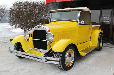 Ford : Other 29 model a pick up street rod 302 c 4 auto transmission convertible yellow