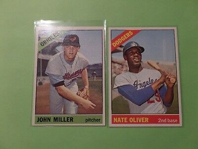 LOT OF 10 DIFFERENT HIGH GRADE 1966 TOPPS BASEBALL CARDS EX/MINT+ to NrMT/MINT