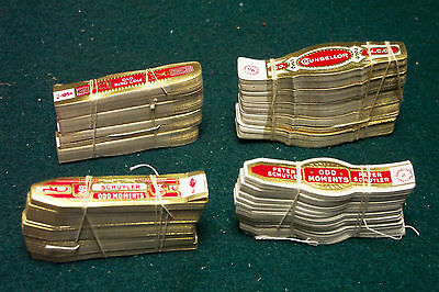 4 different BUNDLES of Vintage CIGAR BANDS - LABEL - #8 - SMALL SIZE old origial