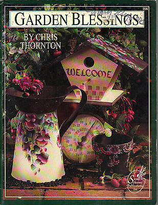 Garden Blessings Tole Book by Chris Thornton~OOP