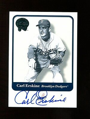Carl Erskine Autograph Signed 2001 Fleer Greats of the Game GOTG Dodgers