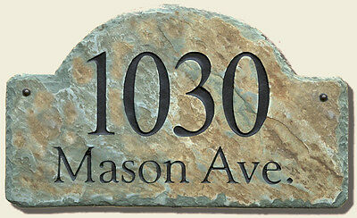 ARCH SLATE ADDRESS/Plaque/Sign/Stone/Name/Marker/Arched / #C-Arch /