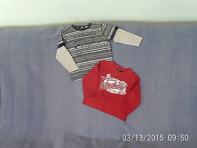 Baby Boys 18-24 Months - Two Long Sleeve Tops - Stock Cars/ Dinosaur