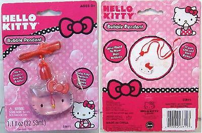 Hello Kitty Bubble Pendant Necklace w/ Wand for Mini Bubbles NEW - Easter
