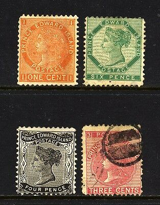 CANADA , PRINCE EDWARD ISLAND , 3 x stamps mounted mint , 1 x fine used