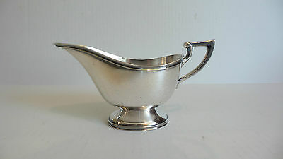 Nice Heavy Vintage Silver Plate Gravy / Sauce Boat, Classic Design