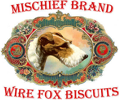Wire Fox Terrier Terrier  Mischief Brand Biscuit Tin & Cookies