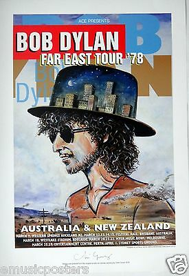 "Bob Dylan ""far East Tour 1978"" Australian Limited Edition Concert Poster Print"