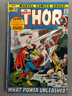 The Mighty Thor (1971) 193  Silver Surfer Appearance Last Stan Lee Script Marvel