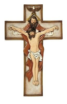 Jesus Holy Trinity Wall Cross God Father Son Holy Spirit Crucifix Christian gift
