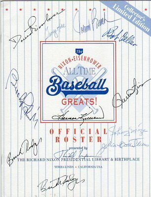 Rare All Time Baseball Greats Signed With 12 Signatures