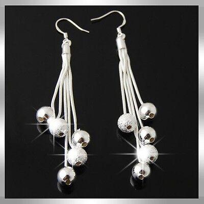 2012 Fashion  Beautiful Five goals earring silver Earring Jewelry For Ladies WM1