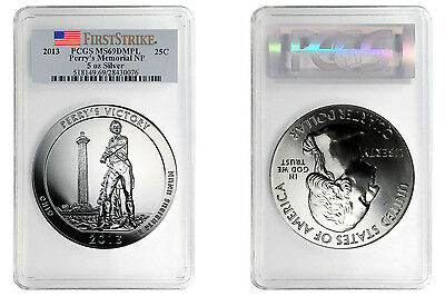 2013 5 oz Silver America the Beautiful Perry's Victory ATB PCGS MS 69 DMPL FS
