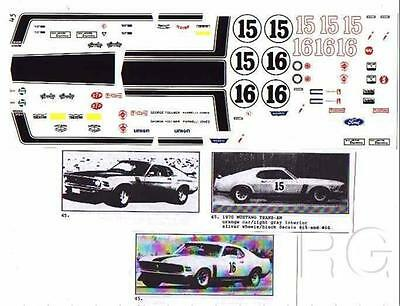 Fred Cady Decal #45 To Do The 1970 Mustang Trans-AM Orange Car #16 or  #15