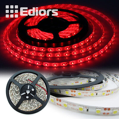 Red 5m 16ft Roll 5050 SMD LED 300 LEDs Flexible Waterproof Light Strip Ribbon US