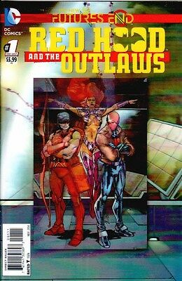 Red Hood And The Outlaws Futures End #1 3D Motion Lenticular Variant New 52 Dc