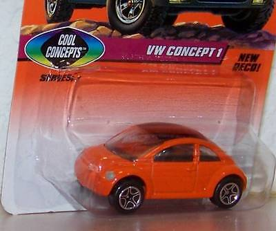 1997 Matchbox  VW Concept 1 Volkswagen  NEW DECO! (Cool Concepts) Card Variation