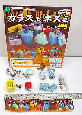 Japan Raven Bird Figure New Color Complete 8pcs+ Display Card - Epoch Gashapon