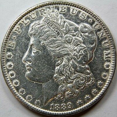 1889 P Morgan Silver Dollar US Mint Coin 11342