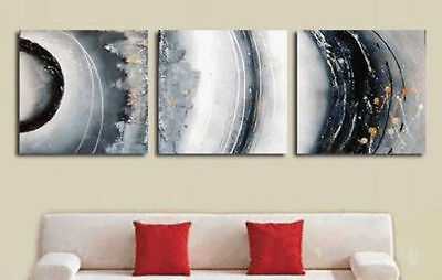 3PCS Hand painted Oil Painting canvas Wall Art Modern Abstract NO Frame