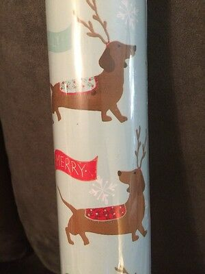 NEW DACHSHUND Christmas Wrapping Paper Gift Wrap 1 Roll Rare! Doxie Dog