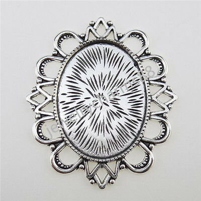 12734 3PCS Alloy Holder Frame Base Tray 40x30mm Setting Pendant FOR Cameo Charm