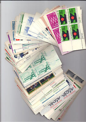 A group of 50  5 cent different Plate blocks of  4  MNH OG