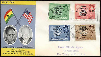 Ghana 1958 Prime Ministers Visit FDC First Day Cover #C20066