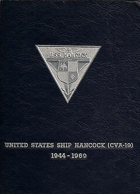 USS HANCOCK CVA-19 VIETNAM DEPLOYMENT CRUISE BOOK YEAR LOG 1969 - NAVY