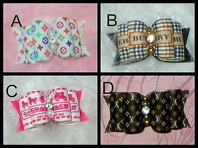 Val's Dog Bows~ USA TOP QUALITY 7/8 ~ PICK ONE ~ for Shih-tzu Lhasa Maltese