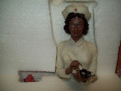 African American Nurse Figurine by Precious Collections