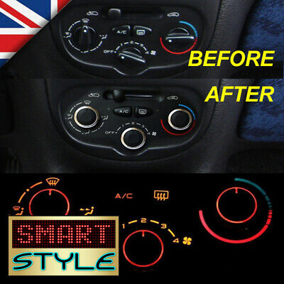 SmartStyle Aluminium Heater Air Con Dash Knobs Styling Buttons for Peugeot 206