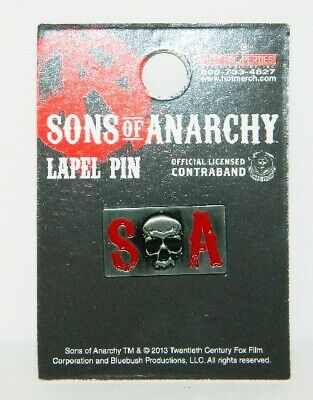 Sons of Anarchy TV Series S Skull A Logo Lapel Pin, NEW UNUSED