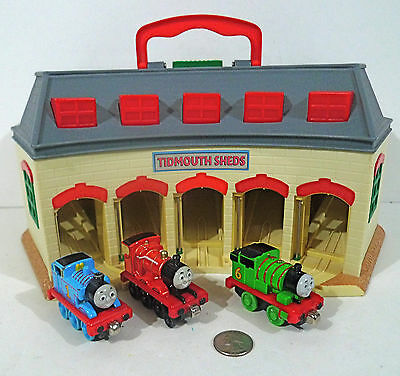 Thomas & Friends Take Along Tidmouth Shed with Sounds + Thomas Percy James Play