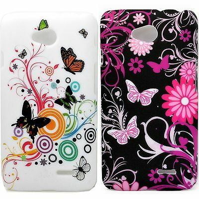 2X New Plastic Hard Back Phone Skin Cover Case For LG Optimus L70 Dual SIM D325